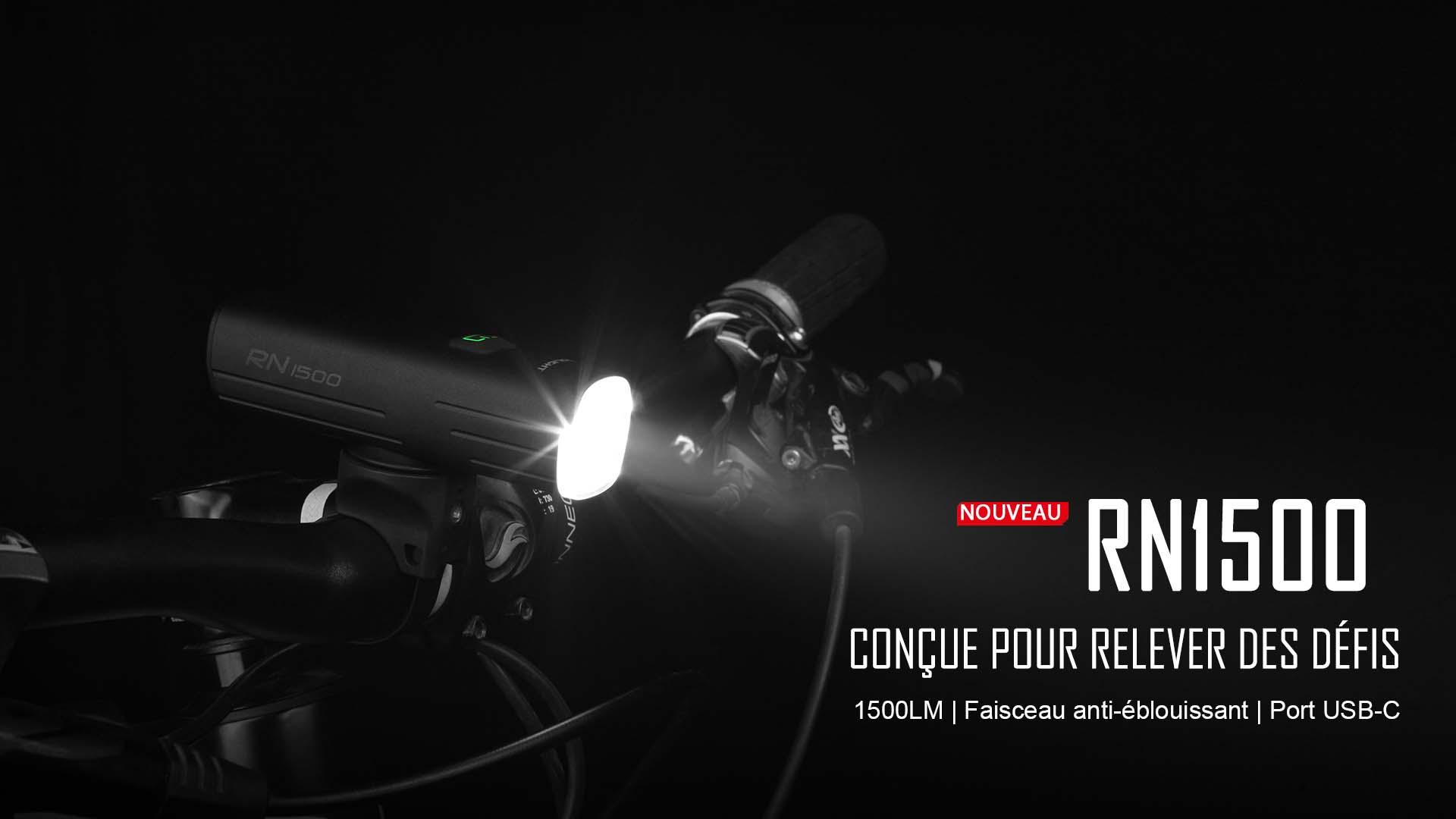 RN1500 éclairage avant vélo VTT 1500 lumen