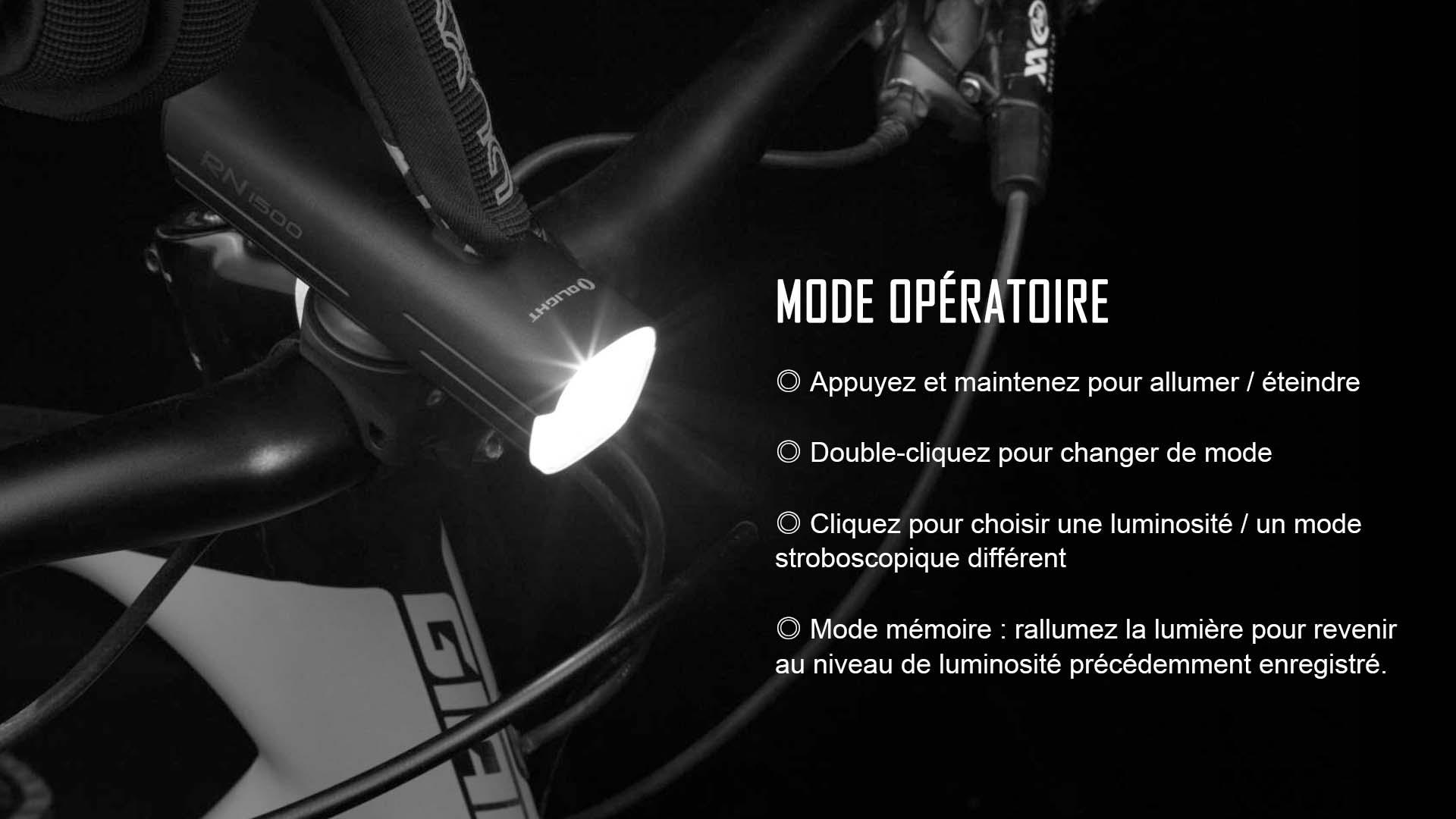 RN 1500 mode opératoire