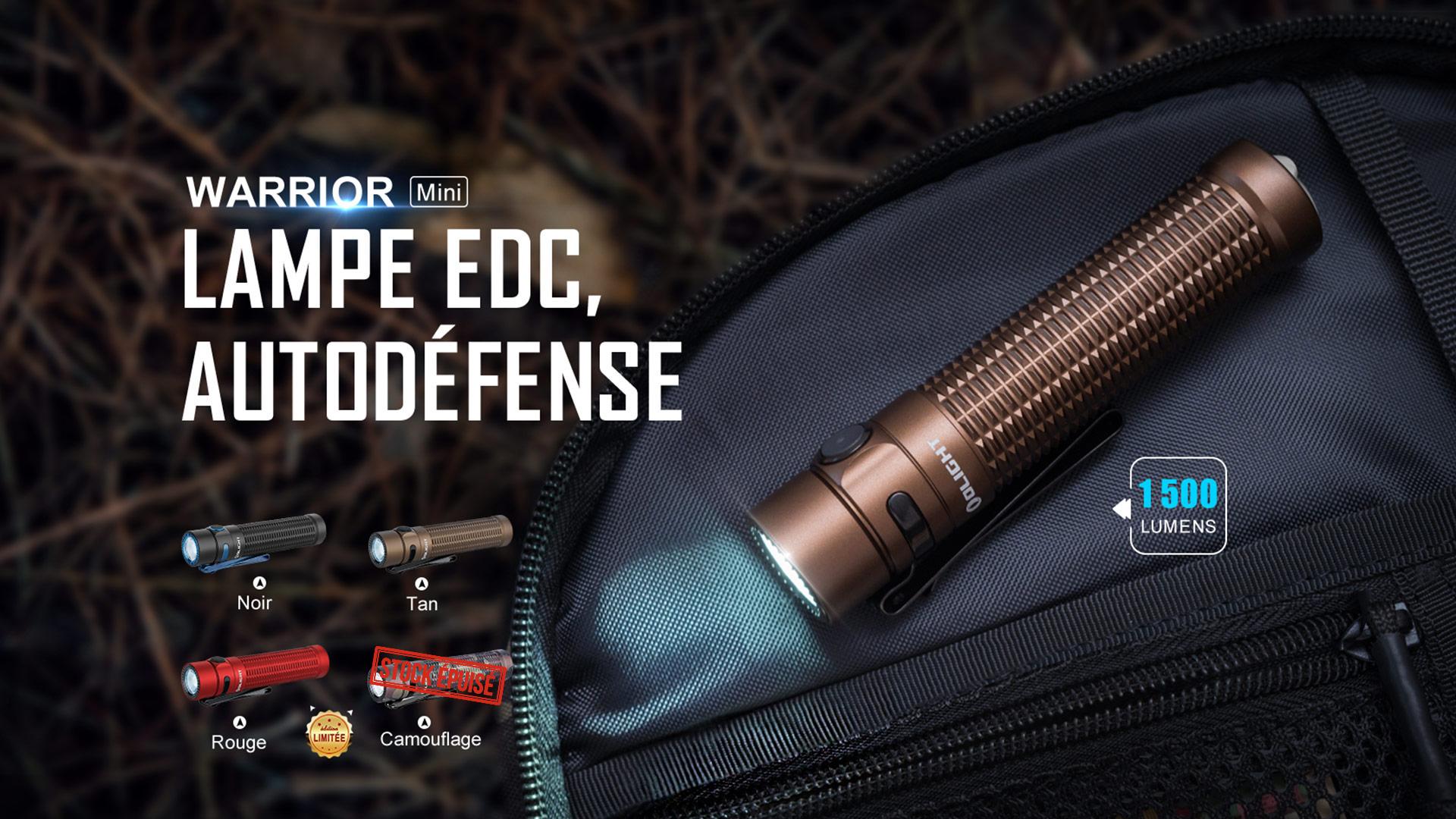Warrior Mini lampe de poche tactique