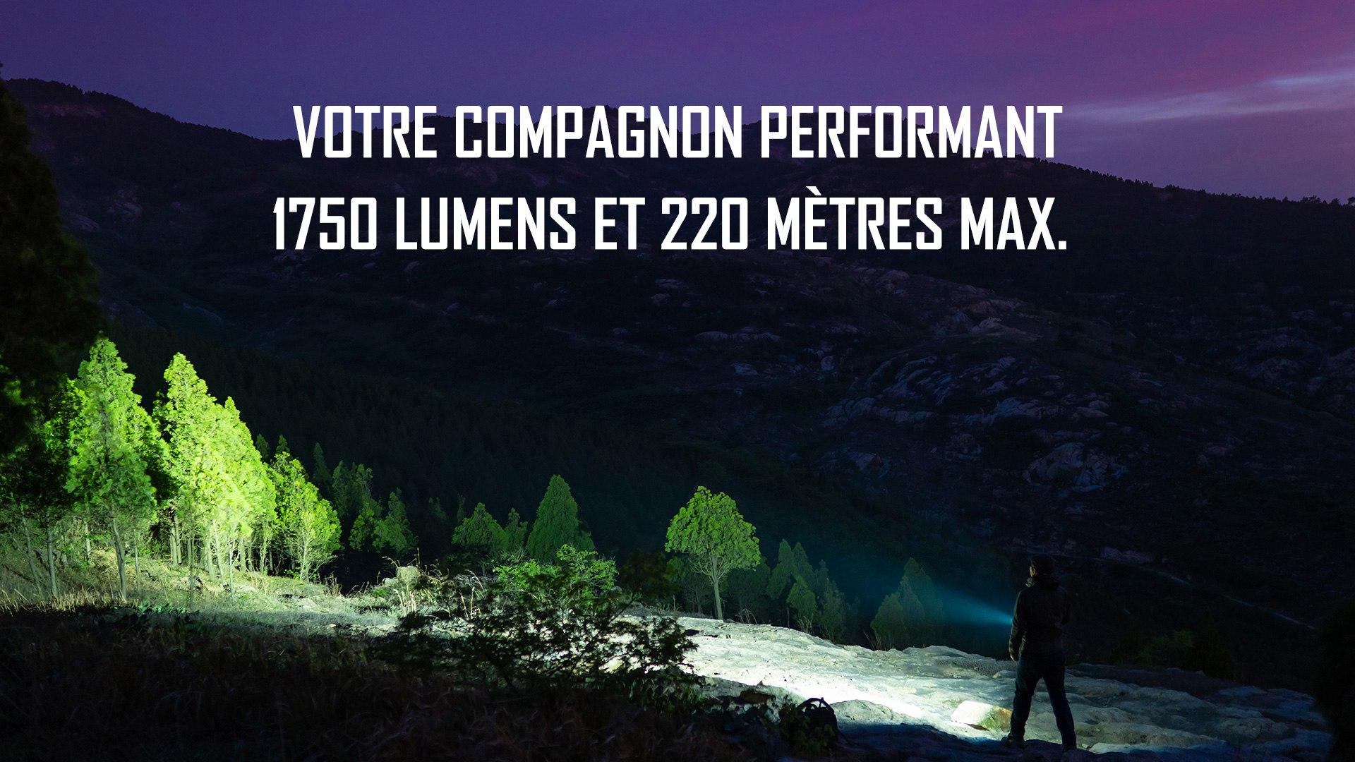lampe torche autodéfense edc 1750 lumens