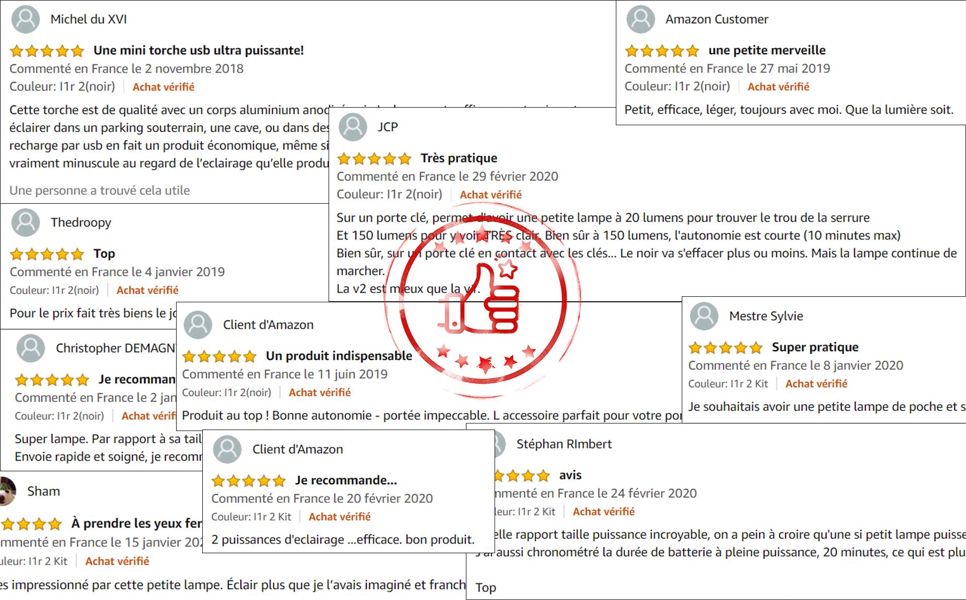 les commentaires de nos clients sur cette lampe porte-clés i1r 2 eos