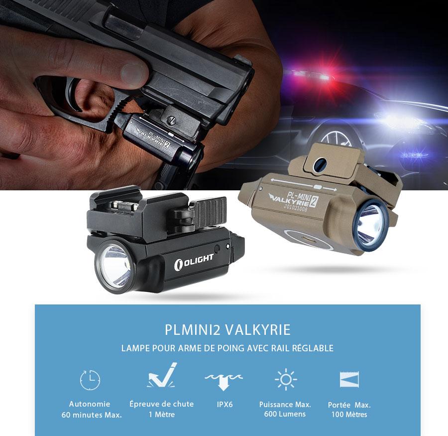PL Mini 2 Valkyrie lampe tactique pistolets rechargeable