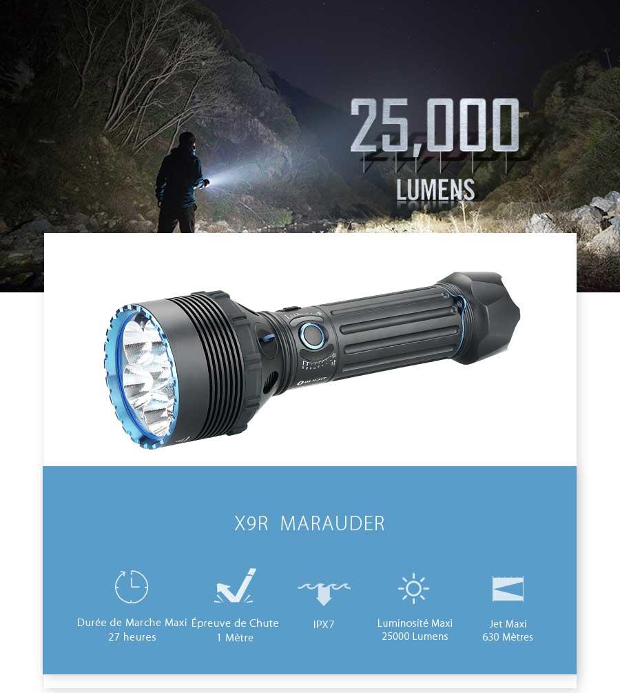 OLIGHT X9R Marauder Lampe Torche
