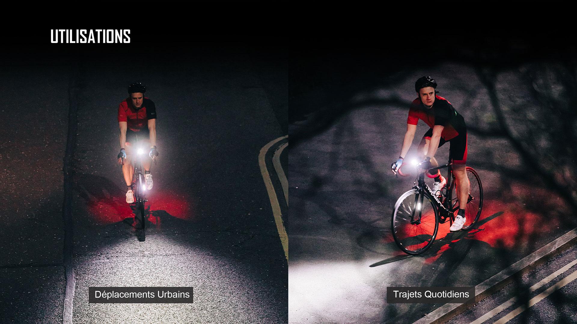 éclairage vélo hautement compatibles