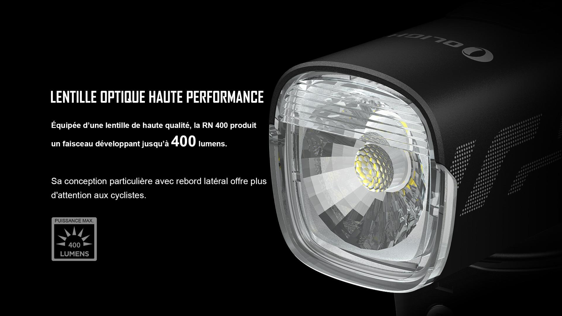 RN 400 éclairage vélo rechargeable polyvalent