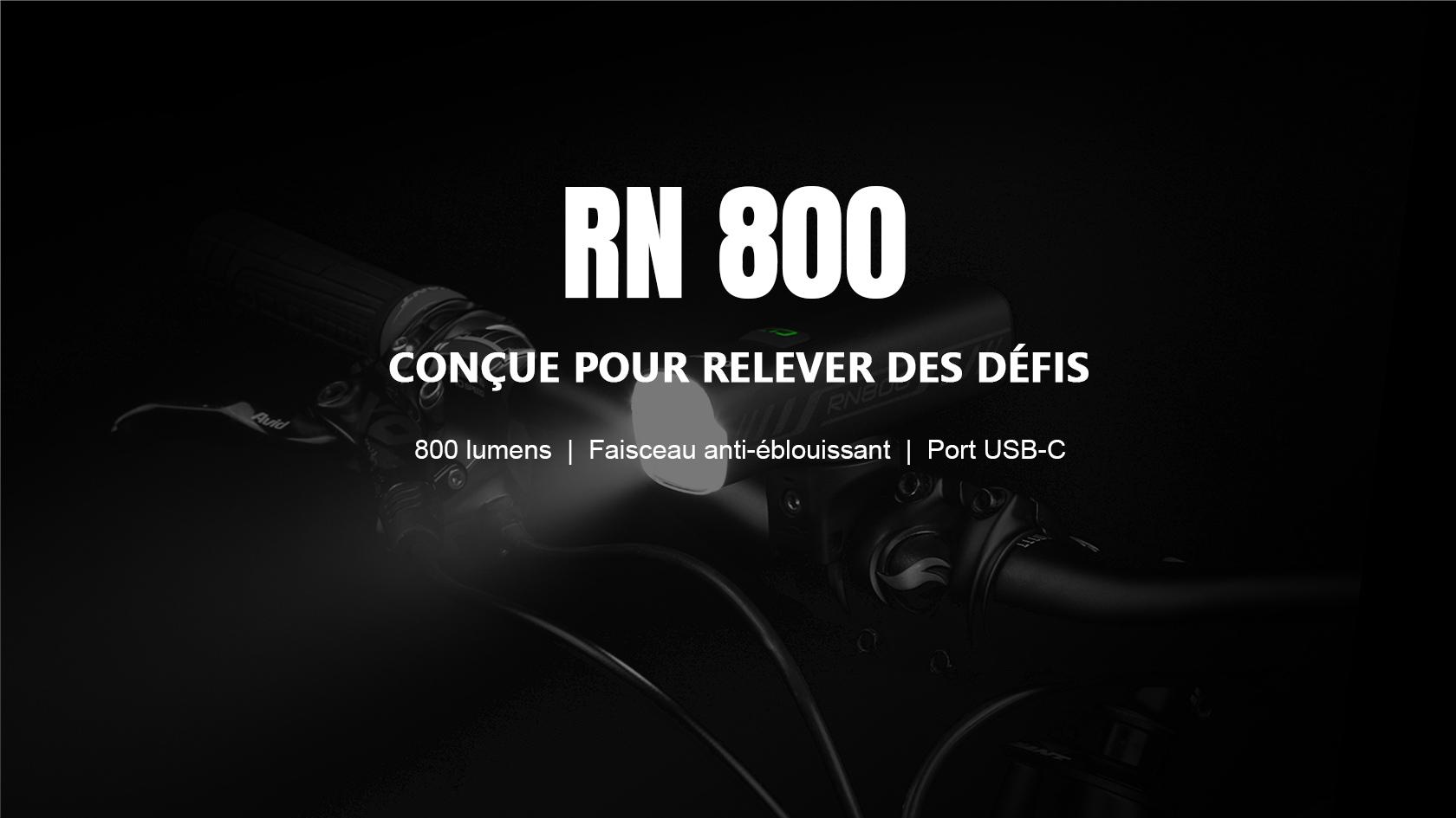 RN 800 Éclairage Avant Vélo Puissante 800 Lumens