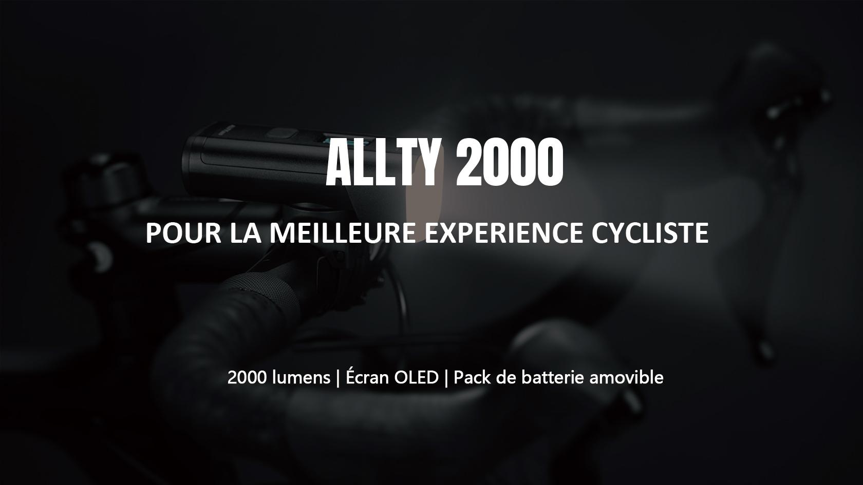 Olight ALLTY 2000 lampe avant vélo