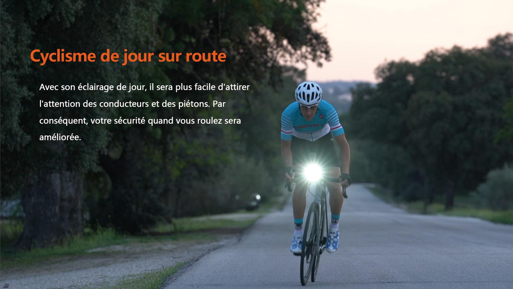 Les lampe avant vélo rendent votre conduite plus sûre