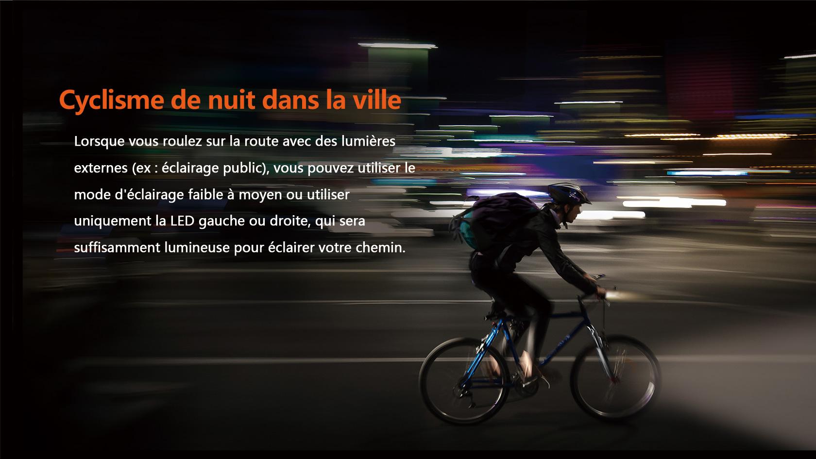 lampe avant vélo lumineux