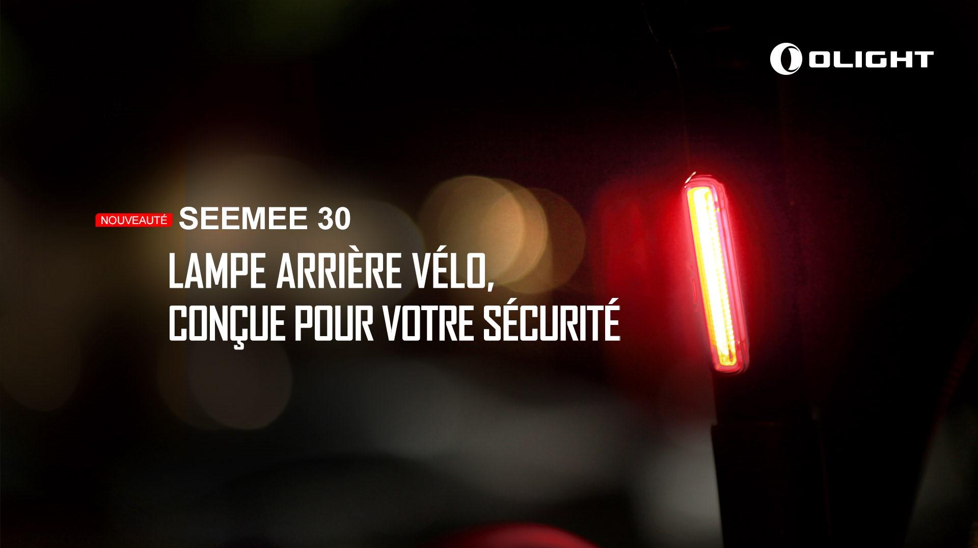 Seemee 30 TL lampe arrière vélo rechargeable
