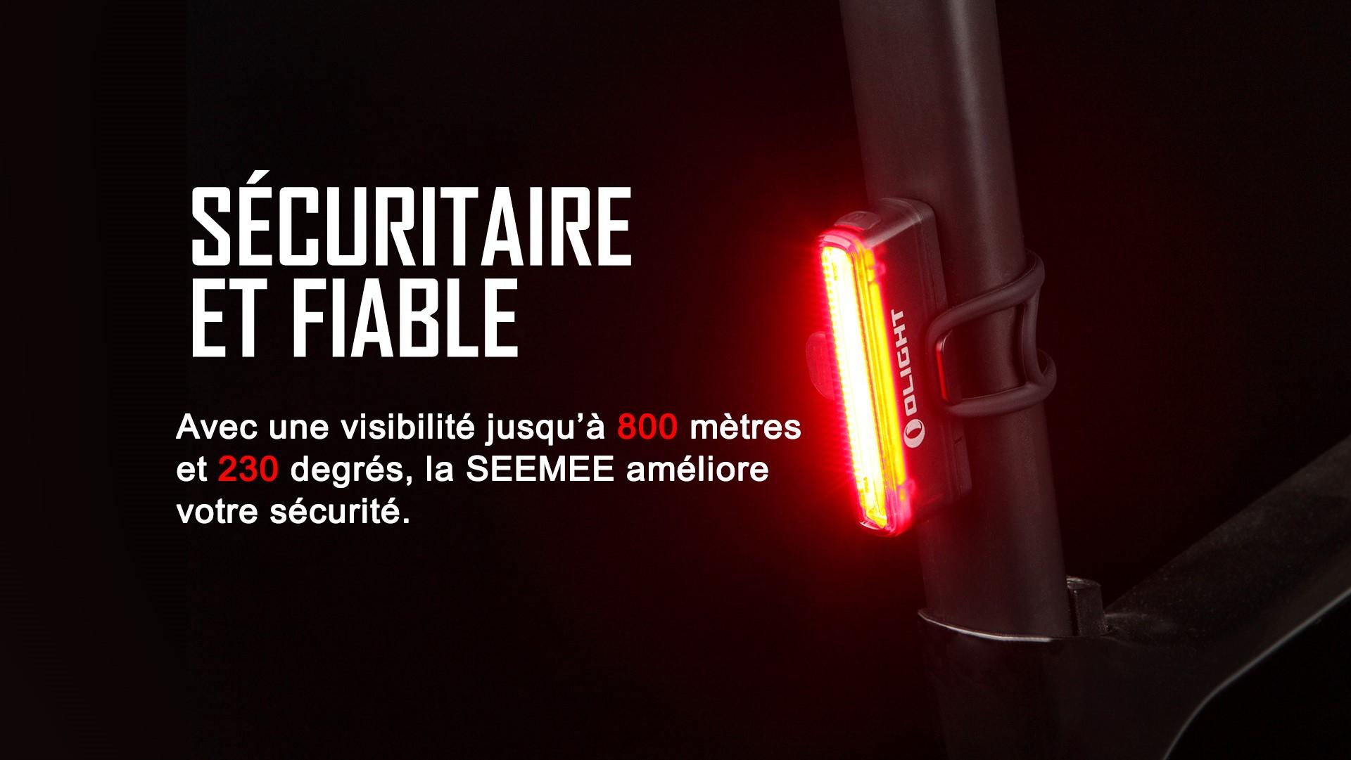 lampe arrière vélo rechargeable 30 lumens